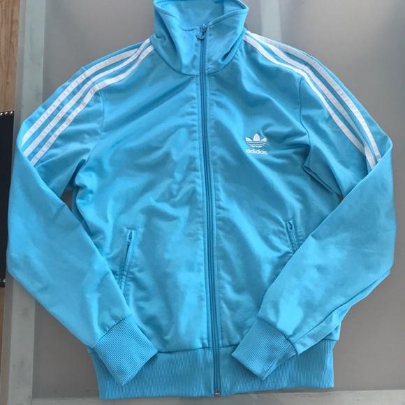 66ca6471886489 adidas Jackets & Blazers - Vintage adidas originals track jacket light blue  L